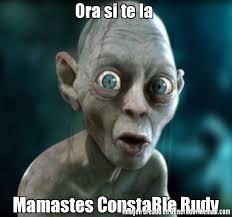 Ora si te la Mamastes ConstaBle Rudy | Gollun meme via Relatably.com