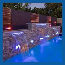 pool waterfall lighting. spa waterfall with led light for swimming pool indoor artificial waterfalls lighting