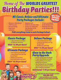 kids birthday parties cleveland oh united skates of america world s greatest parties