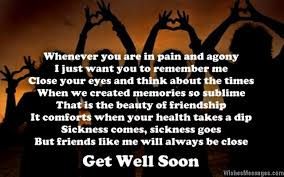Get well soon poems for friends | WishesMessages.com