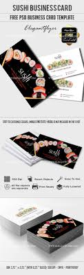 sushi business card psd template by elegantflyer sushi business card psd template