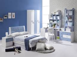 excellent kids bedroom ideas furniture with white blue platform bed frame and white covered bedding also blue and white furniture
