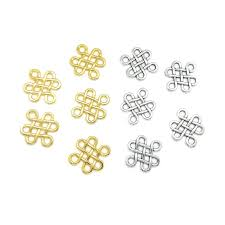 <b>20pcs</b> 17*14mm Zinc Alloy Silver <b>Chinese Knots</b> Connectors DIY ...
