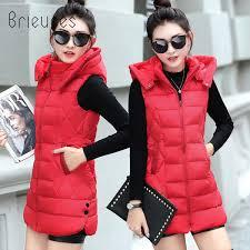 2019 <b>Brieuces 2018</b> Long <b>Vest Winter Coat</b> Women Sleeveless ...