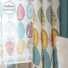 Budloom north Europe <b>style geometric curtains</b> for living room poly ...