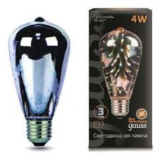 <b>ЛАМПА GAUSS</b> LED <b>3D</b>-<b>BUTTERFLY E27</b> 4W 1/10/40 - ТД Мегаом ...