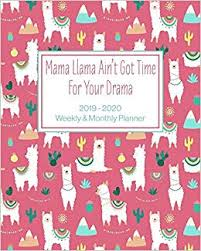Buy <b>Mama Llama Ain't Got</b> Time For Your Drama: 2019 - 2020 ...
