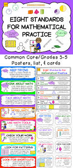 eight mathematical practice standards common core adapted for common core 8 math practice standards everything you need posters one page list