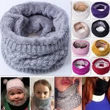 Winter <b>Scarf</b> Child For Women Children Boys <b>Scarf Thickened Wool</b> ...