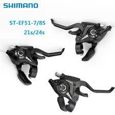 <b>SHIMANO</b> Bike MTB <b>Gear</b> Brake Shifter Levers Set <b>ST</b>-<b>EF51</b>-7/8 ...