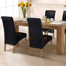 Brown Leather Dining Room Chairs Dining Room Cabinets Uk Oak Extending Dining Table And Fabric