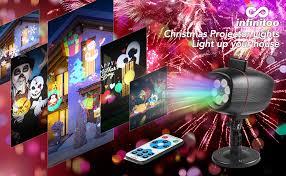 <b>Christmas</b> Projector Lights, infinitoo 17 Patterns Rotating Snowflake ...