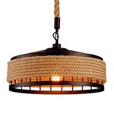 YZSJ Hanging Lamp <b>Vintage Hemp Rope</b> Pendant Lamp Ceiling ...