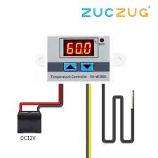 10A <b>12V 24V 220VAC</b> Digital LED Temperature Controller XH ...