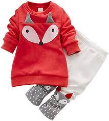 LUKYCILD Baby Girl Cartoon Sweater Suit Long ... - Amazon.com