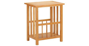 Magazine Table 45x35x55 cm Solid Oak Wood and ... - Dick Smith