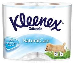 <b>Туалетная</b> бумага <b>Kleenex</b> Natural 3-х слойная, 4 рулона