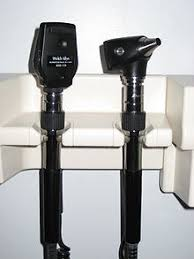 An ophthalmoscope is a tool used by optometrists to see the eye.  They will mainly focus on the retina and optic nerve. There are two types of this tool, a direct ophthalmoscope, and an indirect ophthalmoscope.