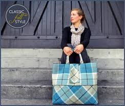 the quintessential plaid tote sew4home the quintessential plaid tote