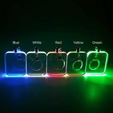 Mini LED <b>Keychain</b> Badge Card <b>Blank Acrylic</b> Plate Button Battery ...