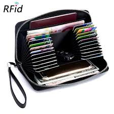 <b>Women</b> Men 24 Card Slots Card Holder <b>Multi</b>-<b>card Bit</b> Wallet ...