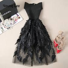 <b>Young Gee Women</b> Lace Bandage Patchwork Stretch Elegant Dress ...