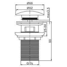<b>Cezares Articoli</b> Vari CZR-SAT6-01 <b>донный клапан</b> для раковины ...