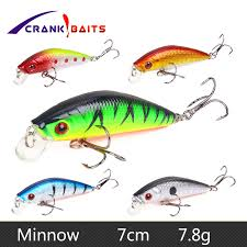 <b>CRANK BAITS</b> 7cm 7.8g <b>Fishing</b> Lure <b>Minnow Crankbait</b> Hard <b>Bait</b> ...