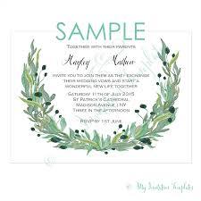 rustic flowers wedding invitations template sample pink wreath invitation template sample