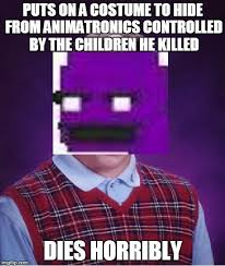 Bad Luck Purple Guy - Imgflip via Relatably.com