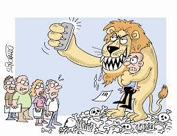 Resultado de imagem para charge contra imposto leão