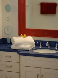 blue bathroom sink kids