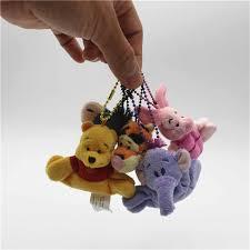 12piece/lot <b>10cm cute</b> bear Piglet Pig Eeyore Donkey Pendant <b>Soft</b> ...
