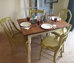black and white dining table set: small round black kitchen table and chairs french dining tables banister backrest chairs black polished wooden