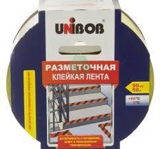 Купить <b>Лента разметочная</b> «<b>UNIBOB</b>®», 50мм*50м в Москве по ...