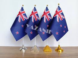 YAZANIE 14*21cm <b>4PCS New</b> Zealand Desk Flag American US ...