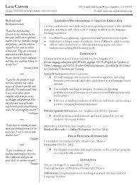 resume in spanish example ziptogreen com medical interpreter resume in spanish example spanish teacher resume spanish teacher interpreter resume sample medical interpreter resume