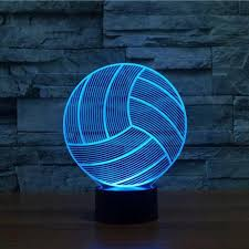 <b>Volleyball 3D Optical LED Illusion</b> Lamp – Lampeez