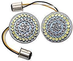 """<b>2</b>"""" <b>Bullet 1157</b> White/Amber <b>LED</b> Turn Signal Inserts + Visor Lens ..."""