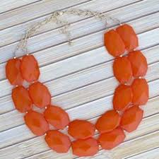 Image result for orange chunk necklace francescas