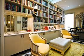 home office decorating in traditional style using great desk clean line cabinet footstool bookshelves office great