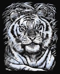 """Набор для изготовления <b>гравюры</b> KSG """"Белый <b>тигр</b>"""", 25,5 х 20,4 ..."""