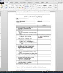 interesting internal audit checklist report template in word thogati
