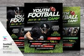 football camp flyer templates flyer templates on creative market