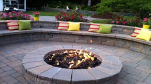outdoor fire pit matching paver
