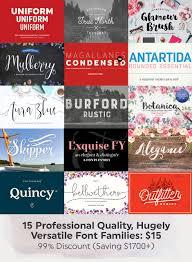 15 professional quality hugely versatile font families plus web 15 professional quality hugely versatile font families