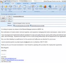 email cover letter format email cover letter
