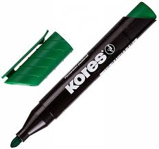 "<b>Маркер перманентный</b> ""<b>Kores</b>"" зеленый 1,5-3 мм, круглый ..."