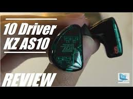 REVIEW: KZ AS10 - Crazy 10 Driver IEM <b>HiFi Earbuds</b>! - YouTube