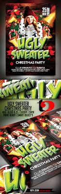 ugly sweater party flyer template by take2design graphicriver ugly sweater party flyer template holidays events